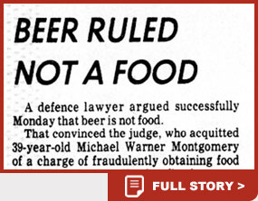 Beer ruled not a food news story
