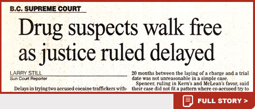 Drug suspects walk free as justice ruled delayed