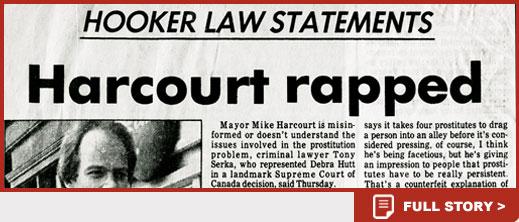 Harcourt rapped news story